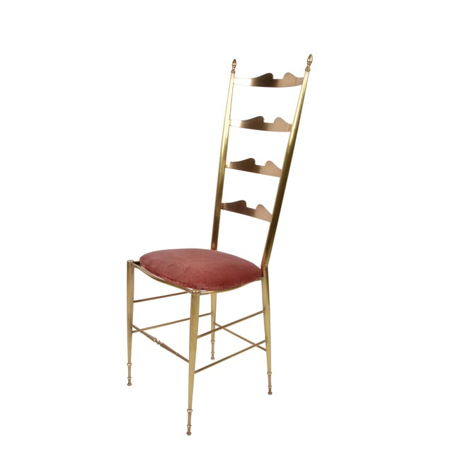 Italian Italian Chiavari Bronze High Back Chairs, a Pair For Sale - Image 3 of 12