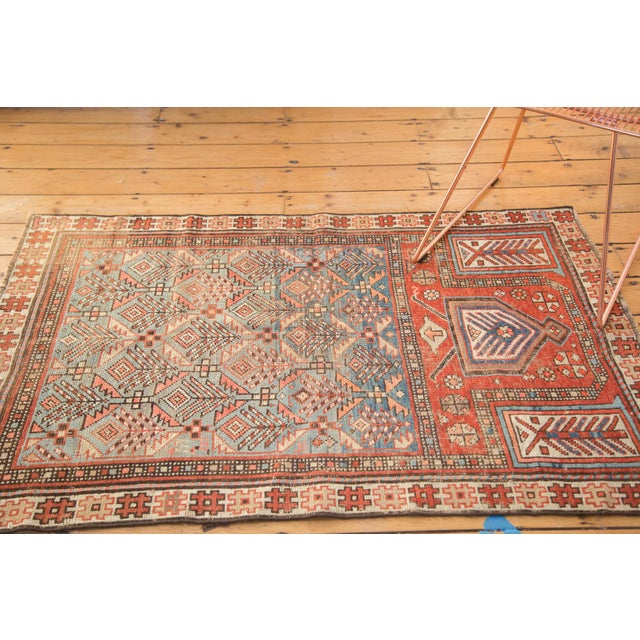"""Antique Caucasian Prayer Fragment Rug - 3'3"""" x 4'10"""" For Sale In New York - Image 6 of 11"""