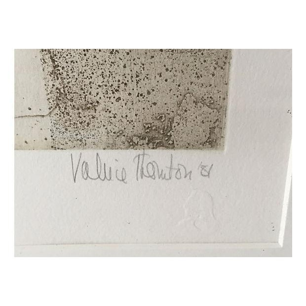 Gothic Original Vintage Valerie Thornton Etching of a Gothic Church Interior For Sale - Image 3 of 7