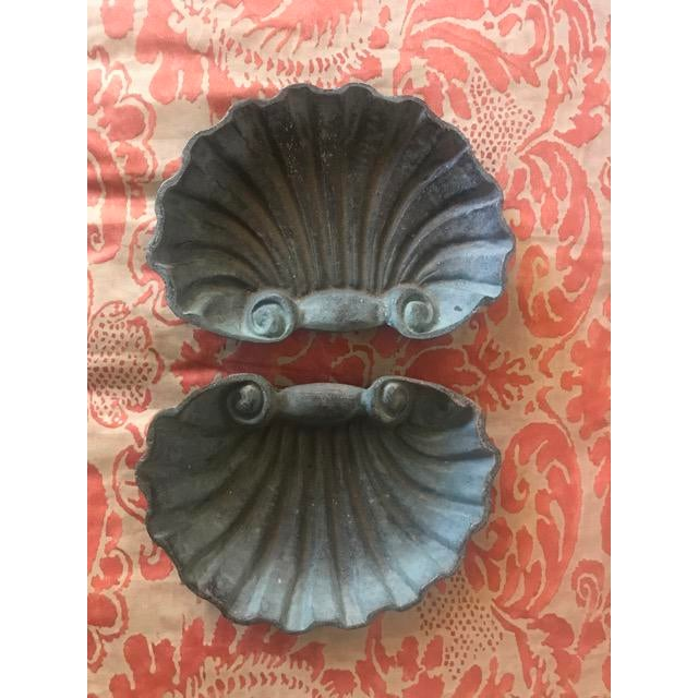 Metal Scallop Shell Dishes - a Pair For Sale - Image 5 of 5