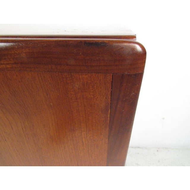 Compact Scandinavian Modern Teak Cabinet For Sale - Image 9 of 13