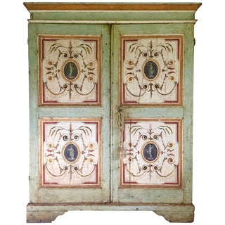 Painted Armoire, Gustavian For Sale