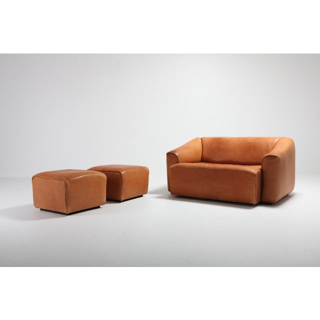 De Sede Ds 47 Cognac Leather Sofa For Sale - Image 11 of 12