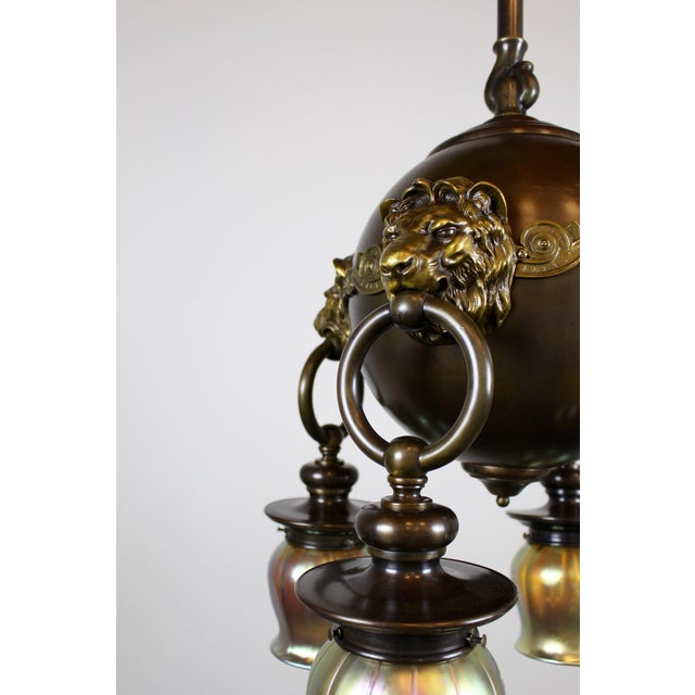 Classic Revival Lion Light Fixture For Sale In Washington DC - Image 6 of 10