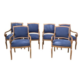 Kravet Golden Mahogany Dining Chairs - Set of 6 For Sale