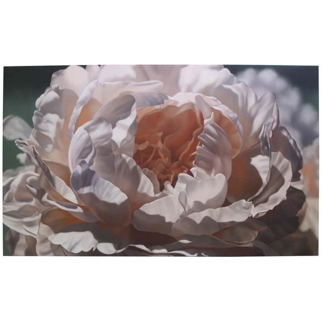"""Vintage Winifred Godfrey Painting """"Pale Peony"""" For Sale - Image 13 of 13"""