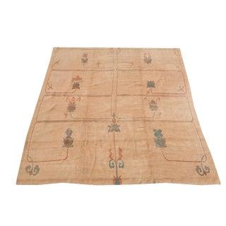 Soft Modern Design Ivory Wool Rug - 12′7″ × 19′5″ For Sale