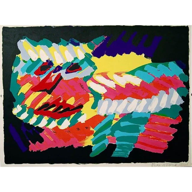 Abstract Expressionism Karel Appel Pink Cat 1980 For Sale - Image 3 of 3