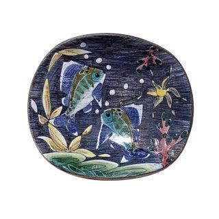 1950's Vintage Tilgmans Keramik Scandinavian Art Pottery Bowl For Sale