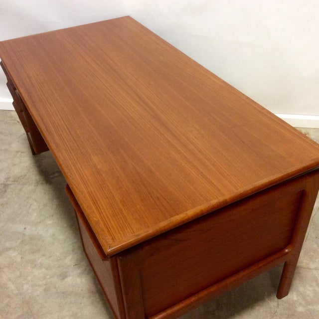 G. V. Gasvig Danish Modern Executive Teak Desk - Image 6 of 7
