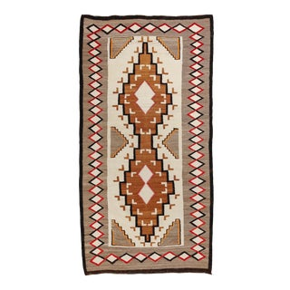 """Old Navajo Rug, 4'2"""" X 8'3"""" For Sale"""