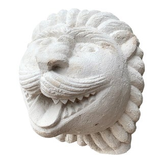 1950s Modern Cast Stone Lion Wall Sculpture For Sale