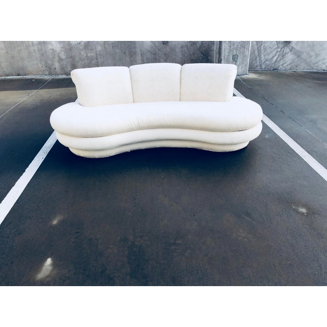 """1980s Vintage Adrian Pearsall for """"Comfort Designs"""" Curved Kidney Shaped Sofa For Sale In Atlanta - Image 6 of 9"""