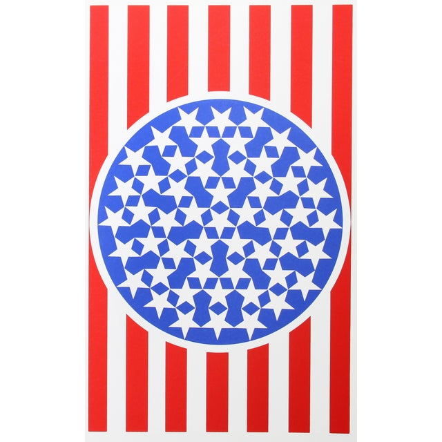 Artist: Robert Indiana, American (1928 - ) Title: New Glory Banner from the American Dream Portfolio Year: 1963 (1997)...