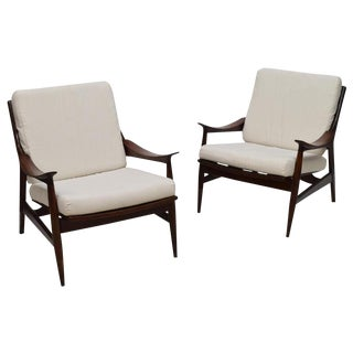 Italian Mid-Century Modern Wood Chairs - a Pair