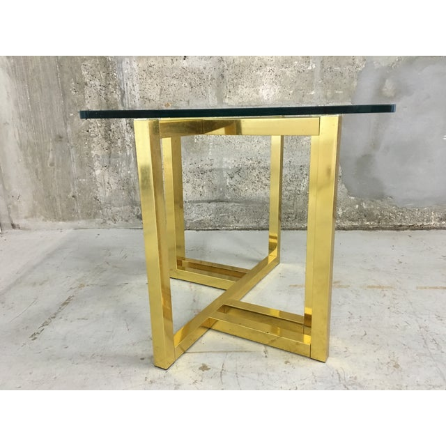 Mid-Century Modern Anodized Aluminum End Table - Image 7 of 7