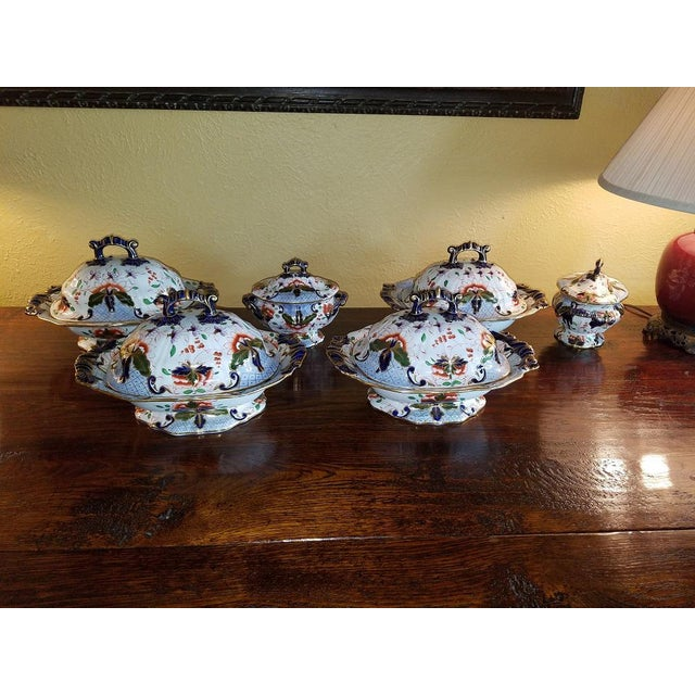 Large Early 19c Davenport Longport Imari China Dinner Service For Sale - Image 11 of 13