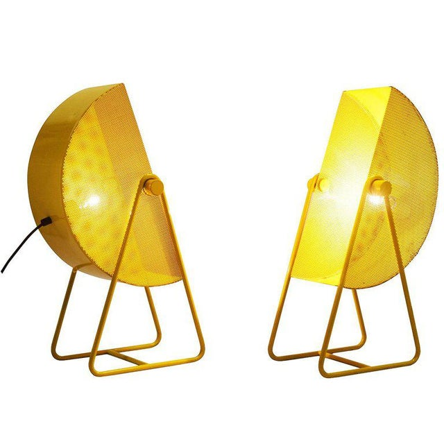 Yellow Bieffeplast Yellow Table Lamps With Adjustable Shades, 1970s For Sale - Image 8 of 8