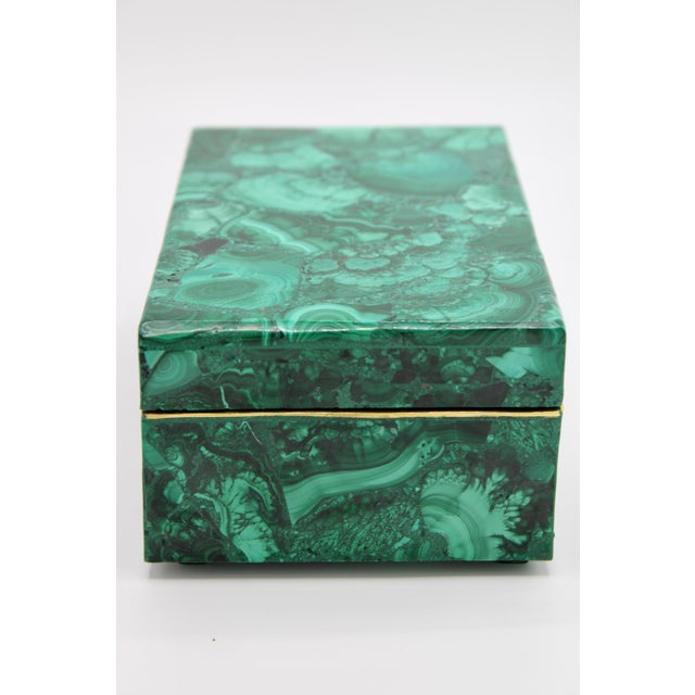 Extra Large Genuine Malachite Box For Sale In Tulsa - Image 6 of 12