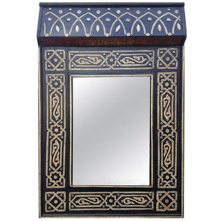 Moroccan Chalet Bone Mirror - Marrakech 1 For Sale