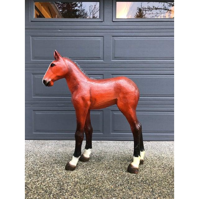 Vintage Resin Colt Horse Statue For Sale - Image 10 of 10