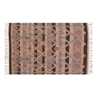 Vintage Beni Ouarain Moroccan Rug - 5'3″x8'6″ For Sale