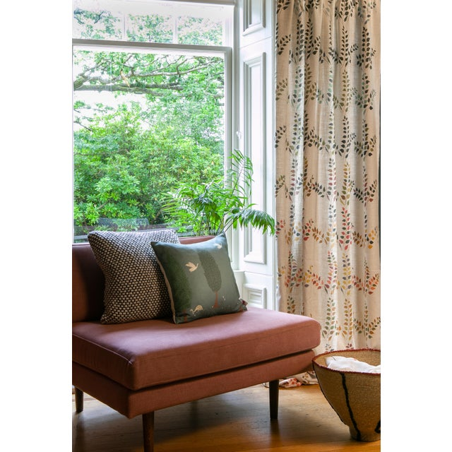 Leaves features large scale vivid pattern inspired from our design Confetti Leaves bringing the outside seasonal colours...