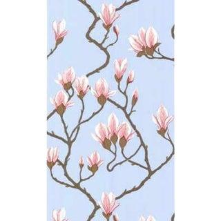 Cole & Son Magnolia Wallpaper Roll - Pale Blue For Sale
