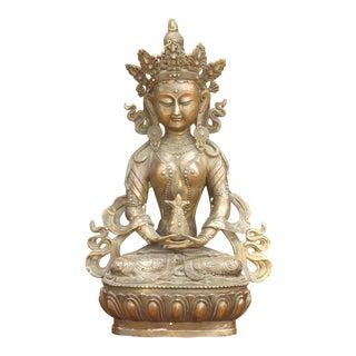 Brass Bodhi Sattva Statue For Sale