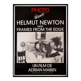 "Vintage Original 1989 French Film Poster ""Helmut Newton Frames From the Edge"" For Sale"