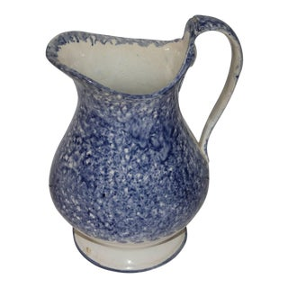 Early 19th Century Spatter Ware Water Pitcher For Sale