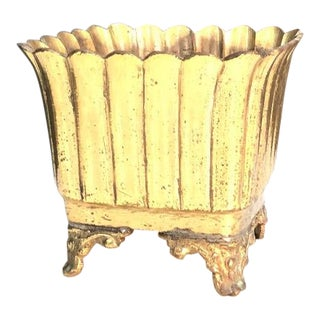 Square Brass Flower Planter For Sale