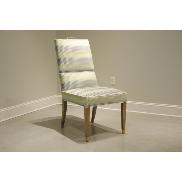 Traditional Tuxedo Side Chair For Sale - Image 3 of 3