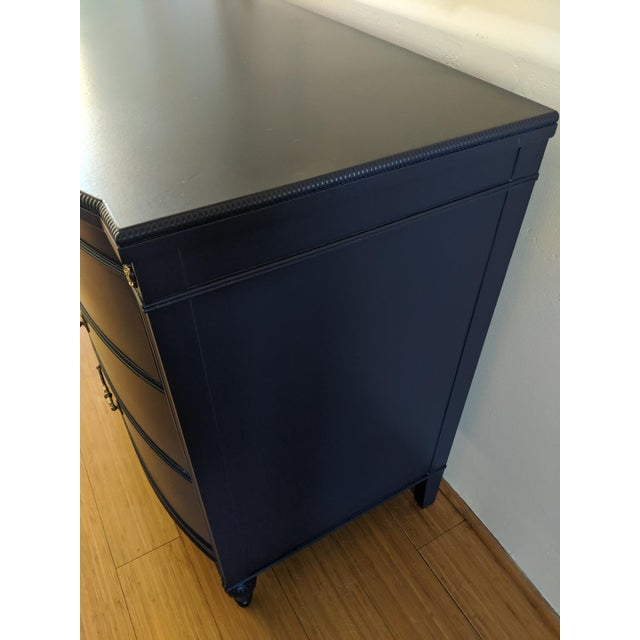 1960s 1960s Heritage-Henredon Blue Double Bow Front Dresser For Sale - Image 5 of 9