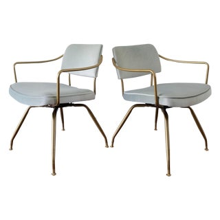 Baumritter Mid-Century Lounge Chairs - Pair For Sale
