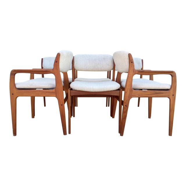 Mid-Century Benny Linden Dining Chairs - 6 For Sale