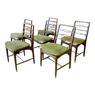Mid Century Modern Walnut Dining Chairs - Set of 6 For Sale