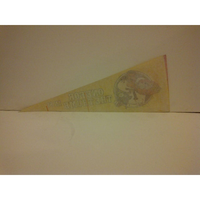 Vintage 1981 Pittsburgh Steelers Pennant Flag For Sale - Image 5 of 5