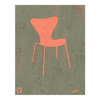 3107 Iconic Design Series Chair Giclee Print For Sale