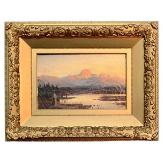 Antique German Oil on Canvas Western Landscape by Will Wex, Circa 1900 For Sale