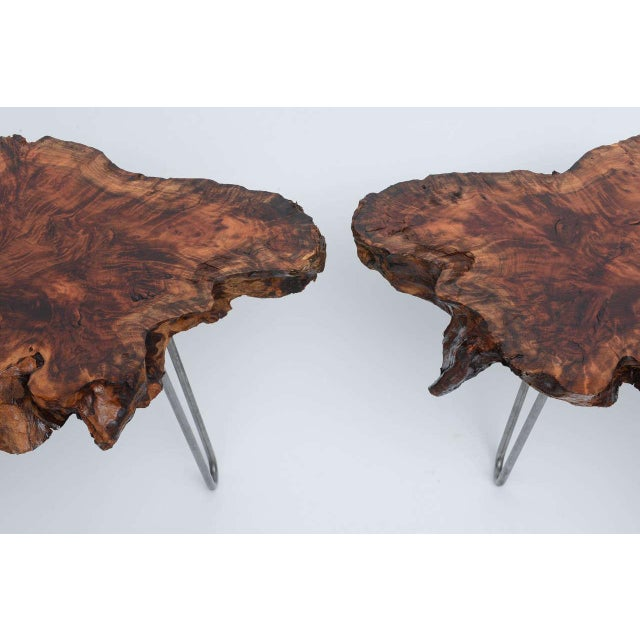 2010s Gorgeous Redwood Tables For Sale - Image 5 of 10
