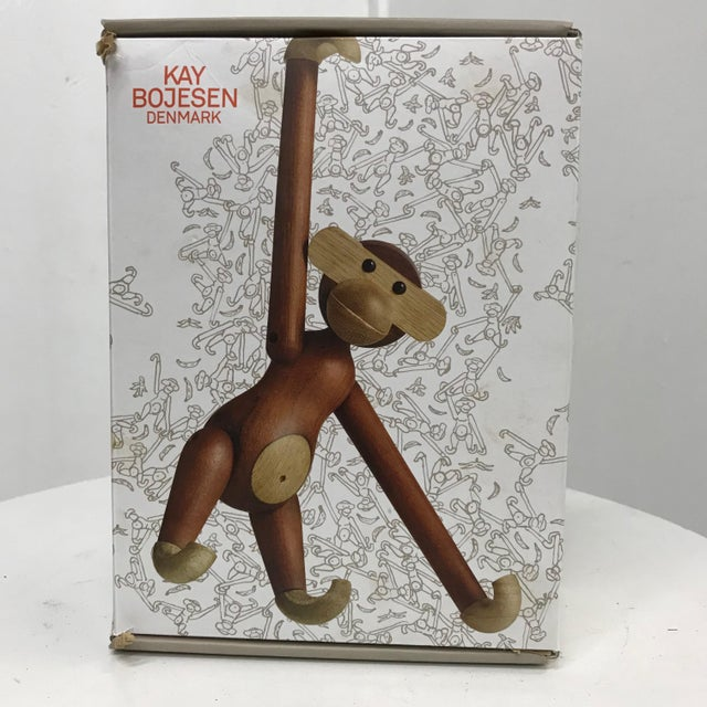 Mid-Century Danish Modern Teak and Ebony Articulated Monkey by Kay Bojensen For Sale In San Diego - Image 6 of 9