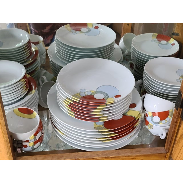 Only one place setting left -- Frank Lloyd Wright designed this elegantly geometric pattern for the Imperial Hotel of...