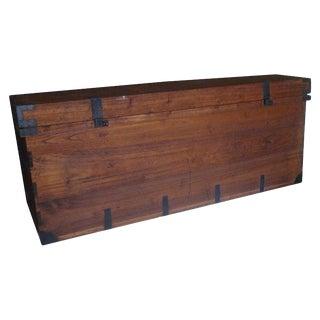 Japanese Nagamochi Chest of Japanese Kiri Wood or Paulownia Wood With Wrought Iron Hardware, Circa 1800s For Sale