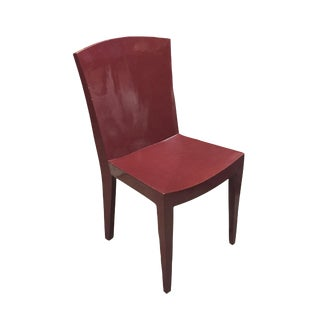 Karl Springer Chair in Coral Lacquer For Sale