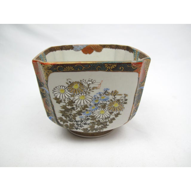 Late 19th Century Late 19th Century Antique Japanese Square Bowl with Man Riding Fish For Sale - Image 5 of 9