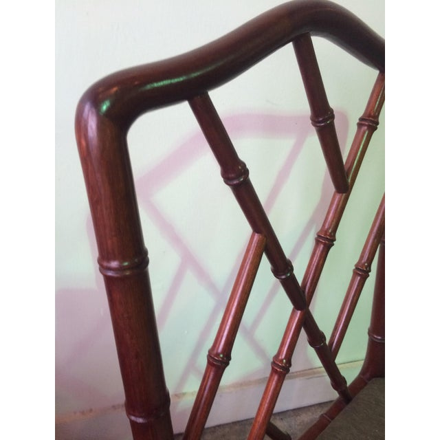 1960s Vintage Rosewood Chinese Chippendale Style Faux Bamboo Dining Chairs- Set of 8 For Sale - Image 9 of 13