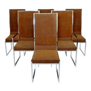 Mid-Century Modern Milo Baughman for Dia Chrome Dining Chairs - Set of 6