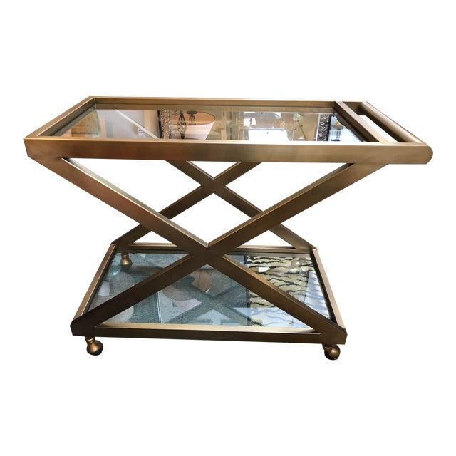 Restoration Hardware Milo Bar Cart For Sale