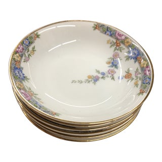 1940s Hutsehenreuther Selb Bavaria Berry Bowls - Set of 6 For Sale